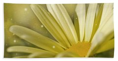 Yellow Daisy Hand Towel by Ann Lauwers
