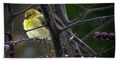 Yellow Finch Hand Towel