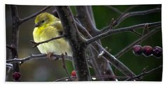 Yellow Finch Bath Towel