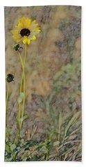 Yellow Flower Bath Towel by Joyce  Wasser