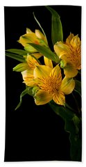 Bath Towel featuring the photograph Yellow Flowers by Sennie Pierson