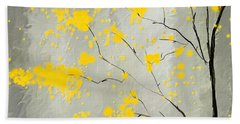 Yellow Foliage Impressionist Bath Towel
