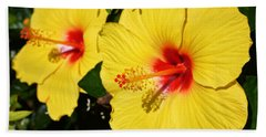Yellow Hibiscus Bath Towel