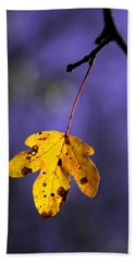 Yellow Leaf Bath Towel