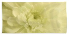 Yellow Mum Luminous Painted Blossom Hand Towel