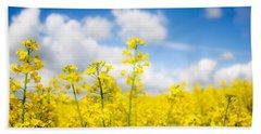 Yellow Mustard Field Bath Towel