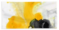 Yellow Orange Abstract Art - The Dreamer - By Sharon Cummings Hand Towel