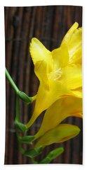 Yellow Petals Hand Towel