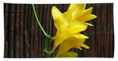 Yellow Petals Hand Towel by HEVi FineArt