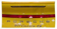 yellow Porsche Hand Towel