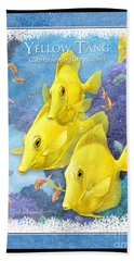 Yellow Tang Bath Towel