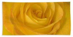 Yellow Tea Rose Bath Towel