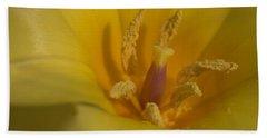 Yellow Tulip Detail 3 Hand Towel