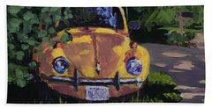Yellow Vee Dub - Art By Bill Tomsa Hand Towel