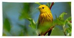 Yellow Warbler Hand Towel