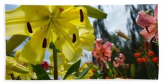 Yellow Whopper Lily 1 Hand Towel by Jacqueline Athmann