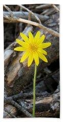 Yellow Wildflower Hand Towel by Laurel Powell