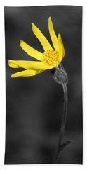 Yellow Wildflower Bath Towel