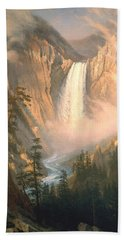 Yellowstone Hand Towel by Albert Bierstadt