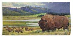 Yellowstone Bison Hand Towel