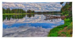 Yellowstone River Reflections Bath Towel