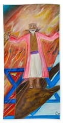 Hand Towel featuring the painting Yeshua by Cassie Sears