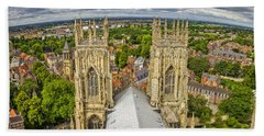 York From York Minster Tower Hand Towel