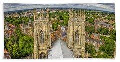 York From York Minster Tower Bath Towel