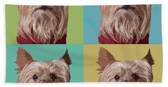 Yorkie Times Four Hand Towel