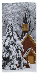 Yosemite Chapel Hand Towel by Bill Gallagher
