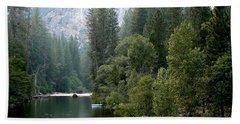 Yosemite National Park Hand Towel by Laurel Powell