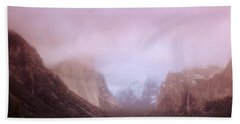 Yosemite Valley Ca Usa Hand Towel by Panoramic Images