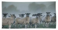 You And Ewes Army? Hand Towel by Chris Fletcher
