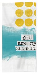 You Are My Sunshine- Abstract Mod Art Hand Towel