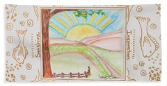 Hand Towel featuring the painting You Are My Sunshine by Cassie Sears