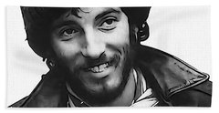 Young Bruce Springsteen Hand Towel