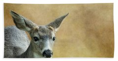 Bath Towel featuring the photograph Young Buck by Belinda Greb