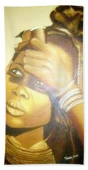 Young Himba Girl - Original Artwork Bath Towel