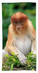 Young Proboscis Monkey Bath Towel