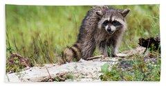Young Raccoon Bath Towel