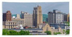 D39u-2 Youngstown Ohio Skyline Photo Hand Towel