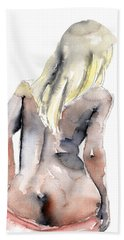 Yours Alone - By Lesley Silver Bath Towel