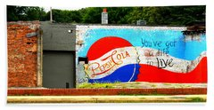 You've Got A Life To Live Pepsi Cola Wall Mural Hand Towel by Kathy Barney