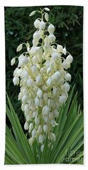 Yucca Blossoms Hand Towel by Christiane Schulze Art And Photography