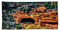 Yucca Cave Canyon Dechelly Hand Towel by Bob and Nadine Johnston