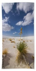 Yucca Growing On Dune In White Sands N Bath Towel