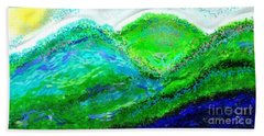 Hand Towel featuring the digital art Van Gogh Sunrise by The Art of Alice Terrill