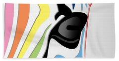 Zebra 1 Hand Towel by Mark Ashkenazi