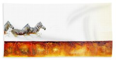 Zebra Crossing - Original Artwork Bath Towel
