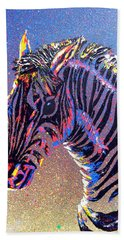 Zebra Fantasy Hand Towel by Mayhem Mediums